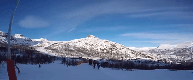 Hemsedal in winter skieen